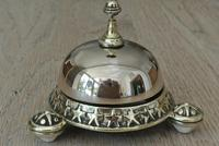 Rare Wilsons Patent 1884 Brass Counter Bell by William Tonks & Sons