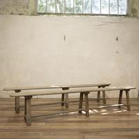 Large Scale 19th Century French Sycamore & Oak Farmhouse Table & Benches (17 of 19)