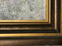 20th Century English Portrait Dachshund Sausage Animal Dog Oil Painting (7 of 12)