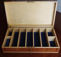 Burr Wood Box Edged in Maple with Maple Portioned (2 of 8)