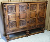 Superb Carved Oak Cupboard on Stand (2 of 34)