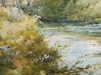 Watercolour Bates Brook Redhill Listed Artist H Rawson (6 of 12)