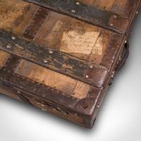 Large Antique Steamer Trunk, English, Pine, Travel, Shipping Chest, Victorian (9 of 12)