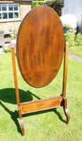 1930's Art Deco Oak  Cheval Mirror (18 of 18)