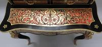 French 19th Century Louis XV Style Boulle Writing Cabinet (6 of 11)