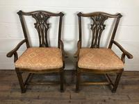 Pair of 19th Century Chippendale Style North Country Armchairs (9 of 10)