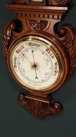 Superb Antique Polished Oak Banjo Barometer (2 of 6)