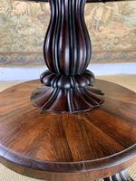 English Regency Rosewood Tilt Top Centre Table (6 of 7)