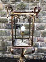 Pair of Antique Brass & Copper Lantern Lamps (3 of 10)