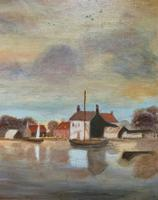 Contemporary, British School - Sailing on the Estuary - Seascape Oil Painting (5 of 11)