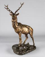 Stunning 19th Century French Bronze Sculpture of Stag, Signed J.E.Masson (2 of 10)