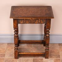Carved Oak Joint Stool (2 of 15)