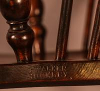 Ash & Elm Windsor Chair Stamped F Walker Rockley (10 of 10)