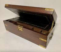 Antique Mahogany Brass Bound Campaign Writing Slope Box (3 of 17)