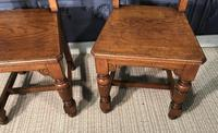 Pair of Victorian Oak Hall Chairs (10 of 17)