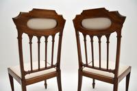 Pair of Antique Edwardian Inlaid Mahogany Side Chairs (10 of 10)