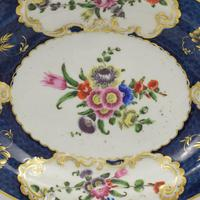 First Period Worcester Porcelain Scale Blue Oval Dish c.1770 (6 of 8)