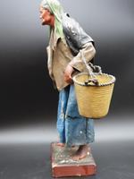 Attractive Mid 19th Century Papier-mâché Crib Figure of Elderly Lady (2 of 5)