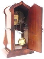 Fantastic Art Nouveau Mantle Clock Tulip Floral Inlay 8 Day Mantle Clock (6 of 10)