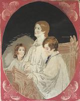 Victorian Tapestry of Three Choir Singers