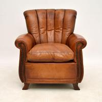 Antique French Style Leather  Club  Armchair (2 of 6)