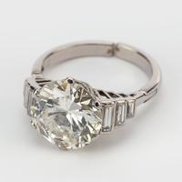 Art Deco Diamond 4.30 Carat Solitaire Engagement Ring c.1930 (2 of 6)