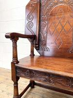 Large Early 20th Century Antique Oak Monk's Seat (6 of 10)