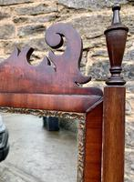 Antique Mahogany Cheval Mirror (11 of 18)