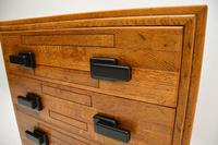 Art Deco Solid Oak Chest of Drawers (9 of 12)