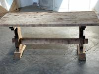 French Bleached Refectory Farmhouse Dining Table (20 of 21)