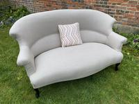 French Two Seater Sofa in Linen (6 of 8)