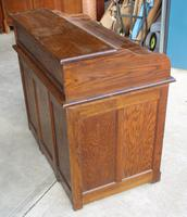 1920's Large Oak D type Roll Top Desk with Good Interior (5 of 6)