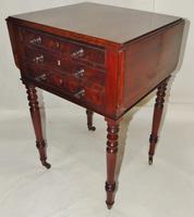 Regency Mahogany Work Pembroke Table (7 of 8)
