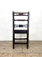 Set of Six Georgian Oak Country Chairs (10 of 10)