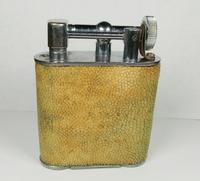 Rare Stunning Unique Art Deco Shagreen Lift Arm Lighter c.1930 (8 of 13)