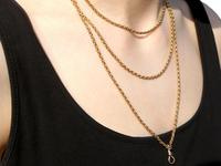 9ct Yellow Gold Longuard Chain - Antique c.1890 (9 of 12)