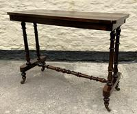 Fine 19th Century Regency Period Rosewood Veneered Occasional Writing Side Centre Table (4 of 12)