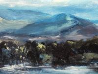 20th Century Oil Painting Wales Menai Bridge Church Straits Snowdonia Mountains (16 of 27)