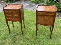 Pair of French Marquetry Bedside Tables in Kingwood (4 of 9)
