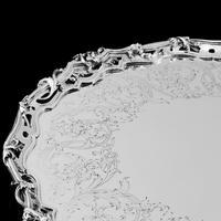 Exceptional Large Solid Sterling Silver Victorian Salver/tray/platter 47cm with Cast Border - Hunt & Roskell - Storr Mortimer & Hunt (7 of 29)