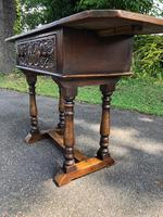 Antique Carved Oak Hall Side Table (5 of 11)