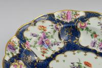 First Period Worcester Porcelain Blue Scale Junket Dish c.1770 (8 of 8)