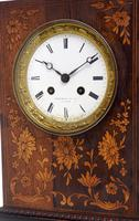 Wonderful Offices French Empire Mantel Clock Carved Floral Inlay (4 of 10)