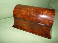Large Burr Walnut Bell Style Tea Caddy - Original Lids c.1870 (7 of 11)