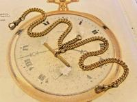 Victorian Pocket Watch Chain 1890s Antique 12ct Rose Gold Filled Albert With T Bar (3 of 12)