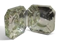 Two Pairs of Deco Glass Ashtrays (3 of 11)