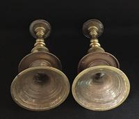 Pair of Victorian  Bell Shape  Brass Candlesticks (5 of 7)