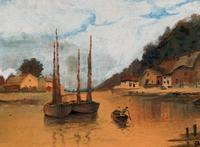 Wonderful Original 19th Century Antique Seascape Landscape Watercolour Painting (3 of 12)