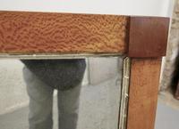 Art Deco Birds Eye Maple & Mahogany Framed Mirror (4 of 5)