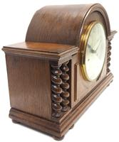 Solid Oak Hat Shaped Mantel Clock 8-day by Hac Westminster Chime (9 of 10)